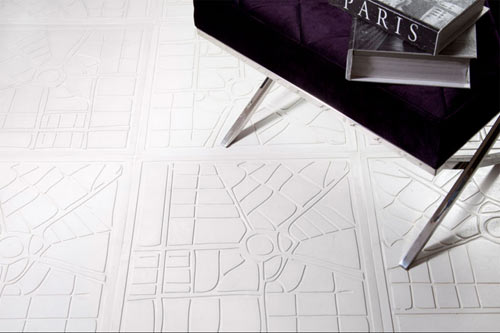 carrelage blanc unique: carte de la ville