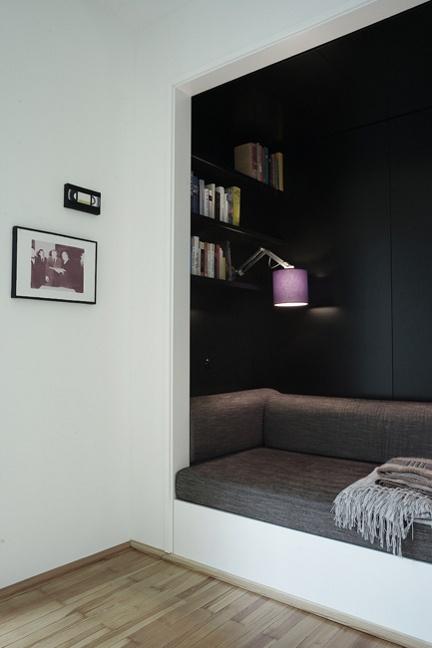 Un angle différent} alcove contrastée – Cocon de décoration: le blog