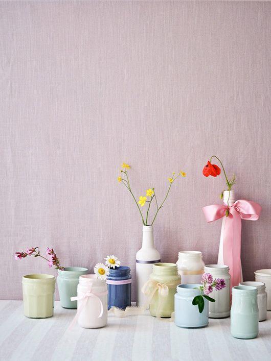 papier peint pastel et accessoires deco