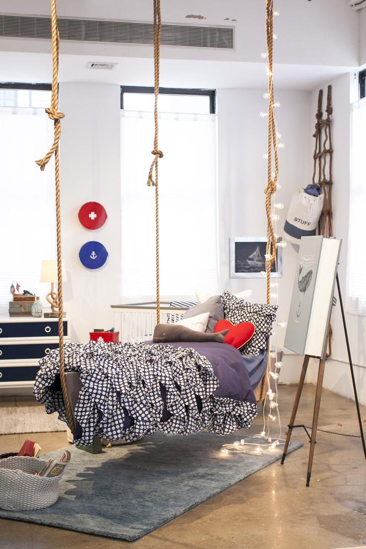lit suspendu cocon d co vie nomade. Black Bedroom Furniture Sets. Home Design Ideas