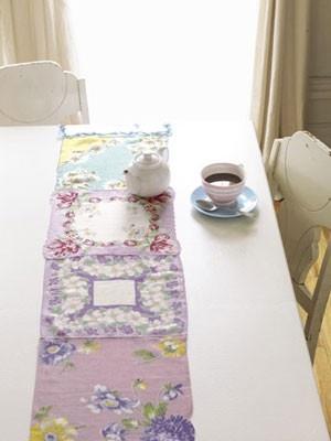 chemin de table mouchoir en tissus