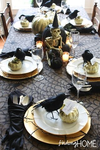 Inspiration d co de table pour halloween cocon de - Decoration de table halloween ...