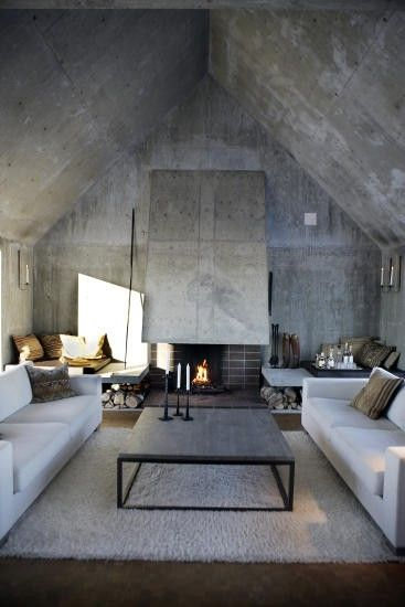 plafond beton cire