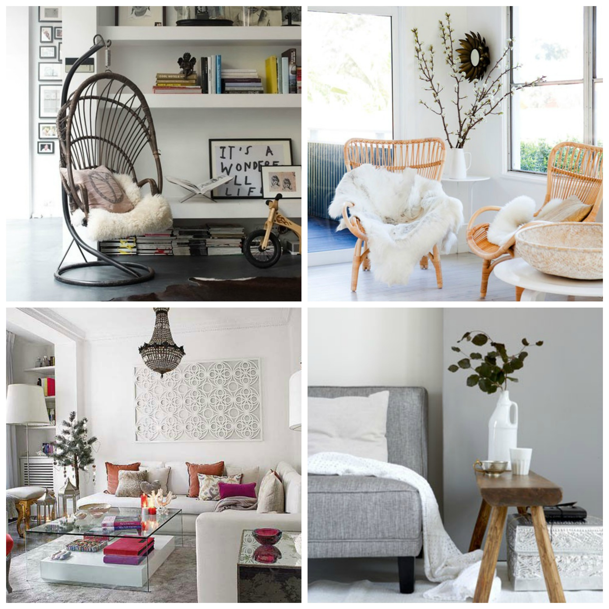 Salon cosy et moderne cocon de d coration le blog - Decoration cosy et idees creatives ...