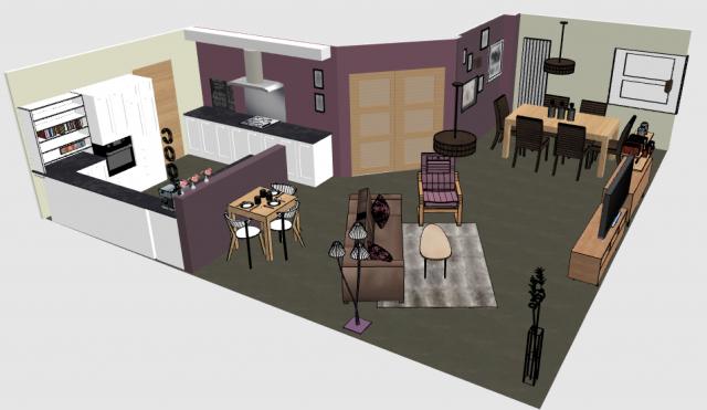 Projet d co espaces de vie cosy cocon de d coration - Amenagement salon salle a manger 15m2 ...