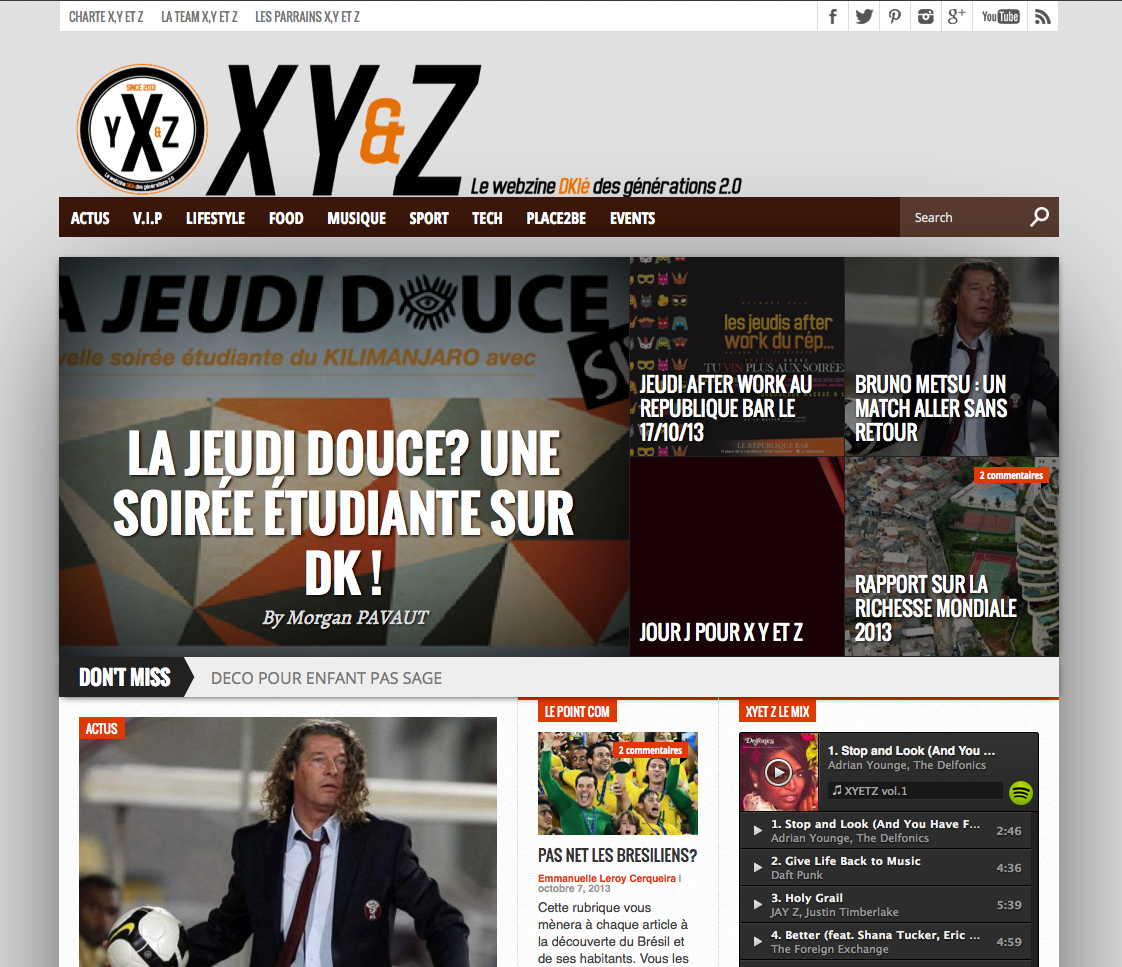 XYetZ webzine decale