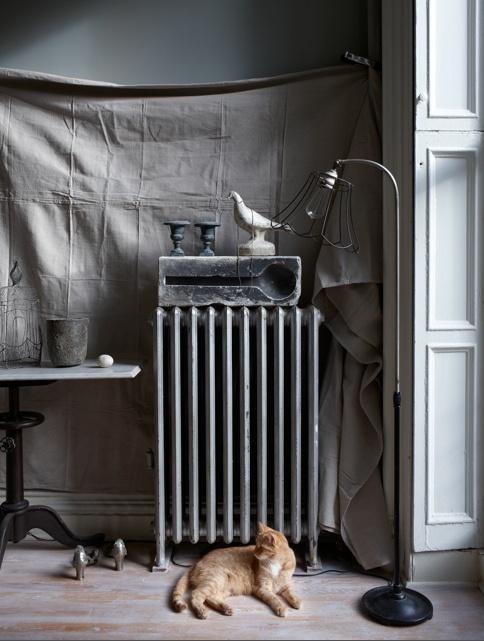 decoration radiateur hiver
