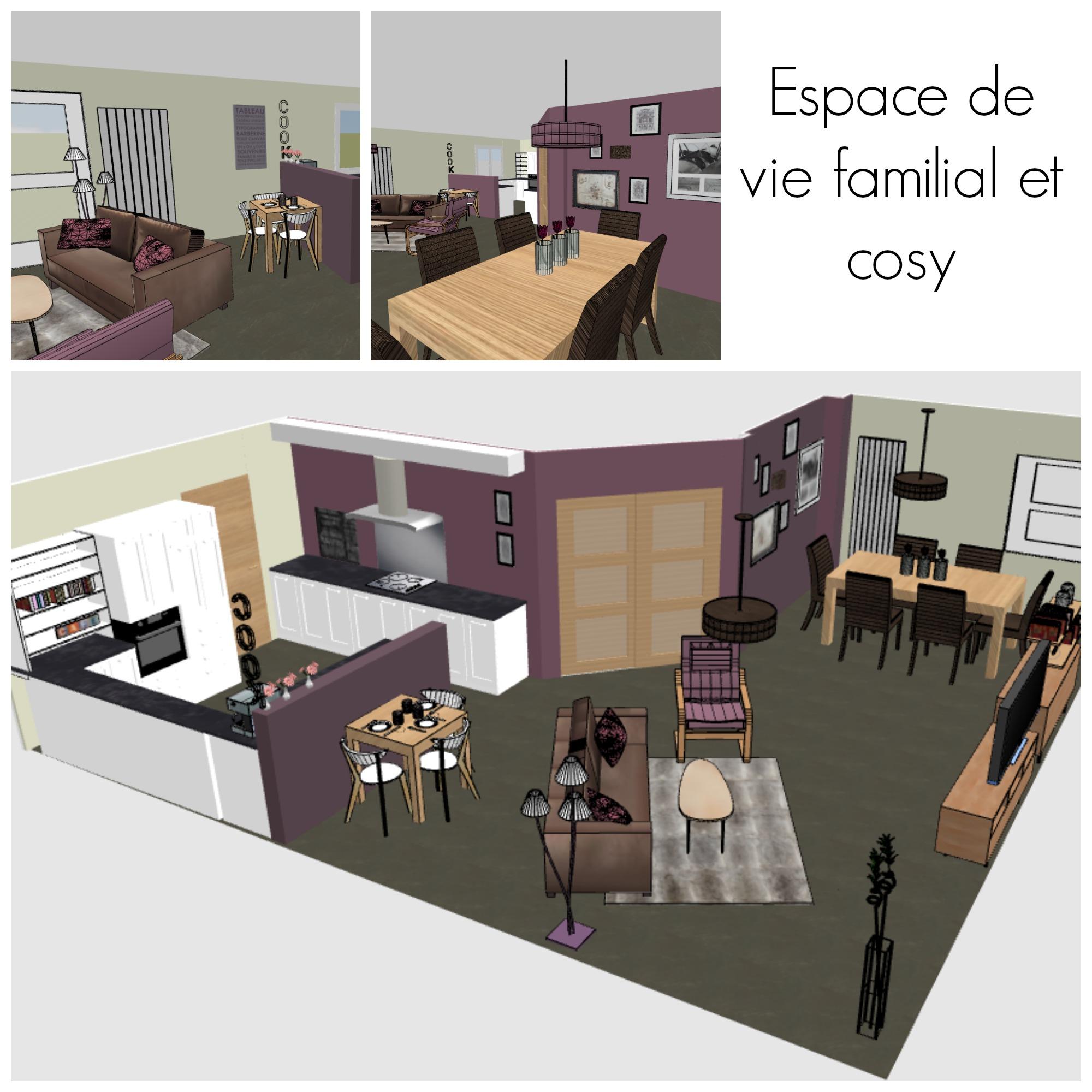 projet d co espaces de vie cosy cocon d co vie nomade. Black Bedroom Furniture Sets. Home Design Ideas