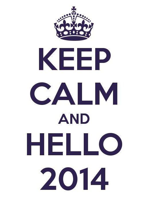 keep calm and hello 2014
