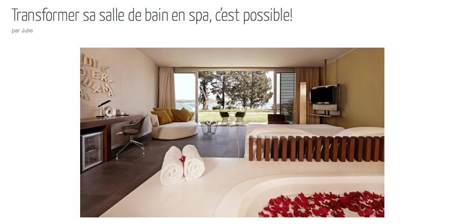 Salle de bain inspirations cocon de d coration le blog - Salle de bain spa ...