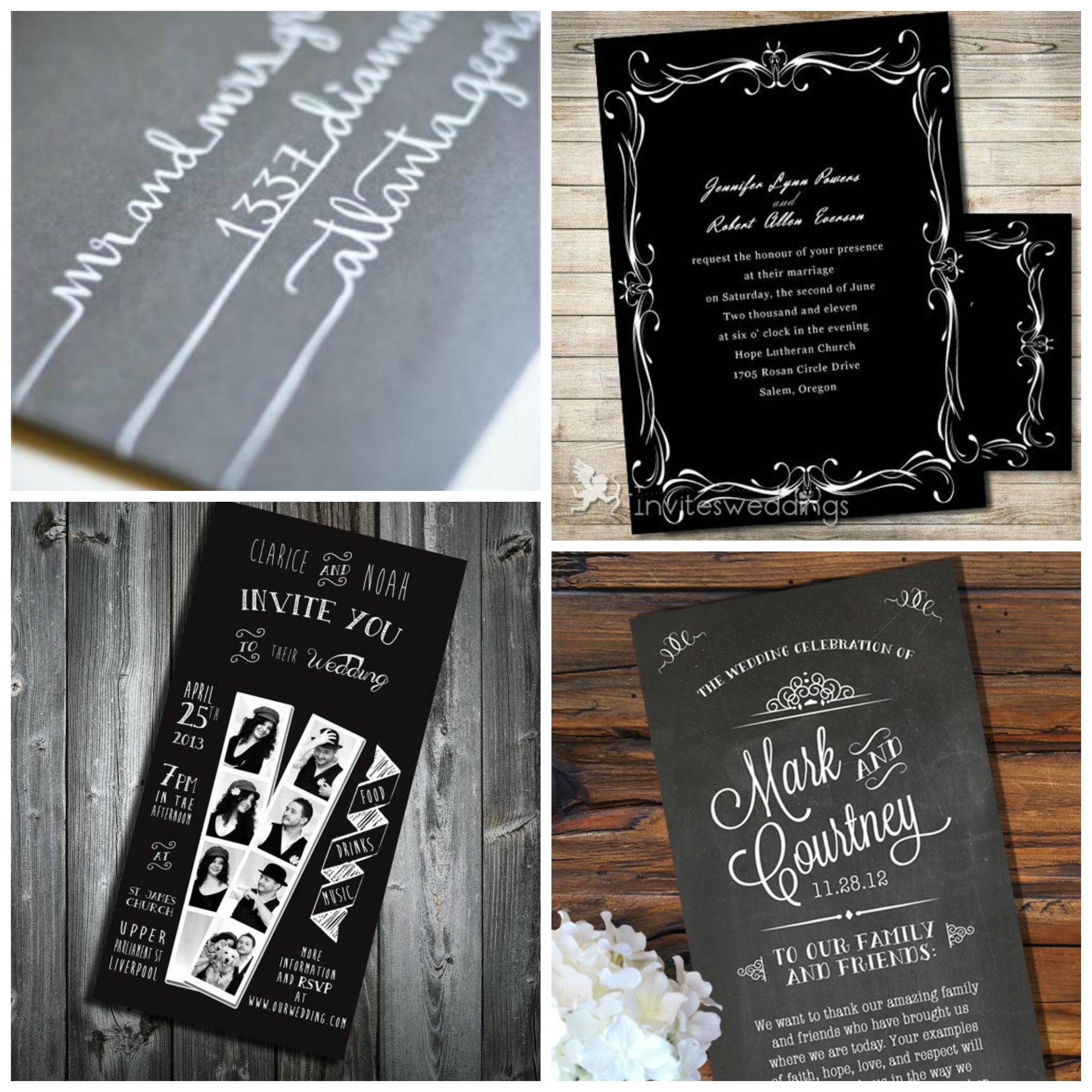 Souvent Mariage} Inspiration déco en noir – Cocon de décoration: le blog TF69
