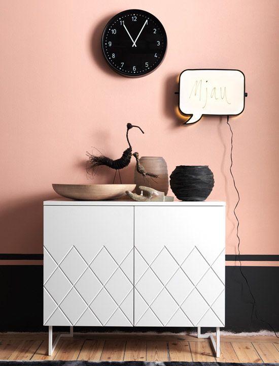 murs rose couleur