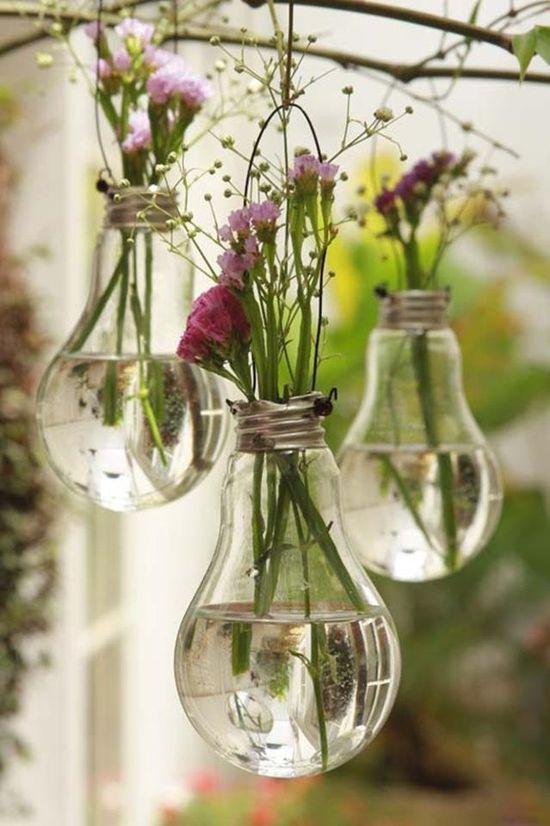 vase ampoule detournee