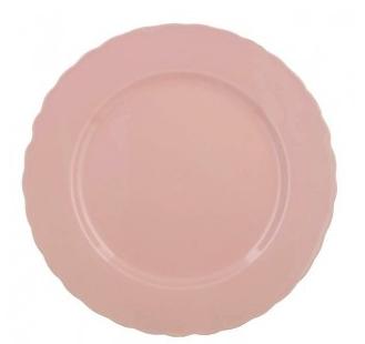 assiette rose pastel
