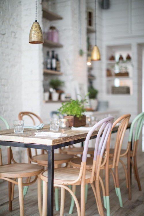 chaise cuisine pastel