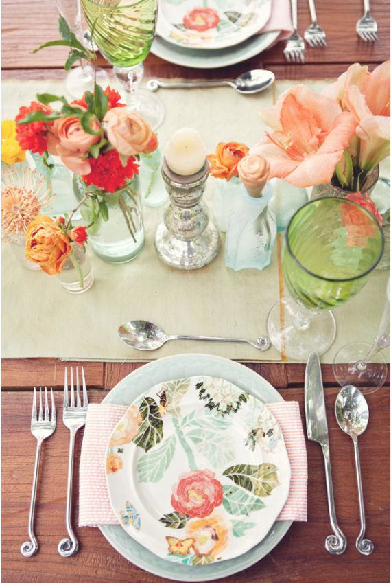fleur printemps table