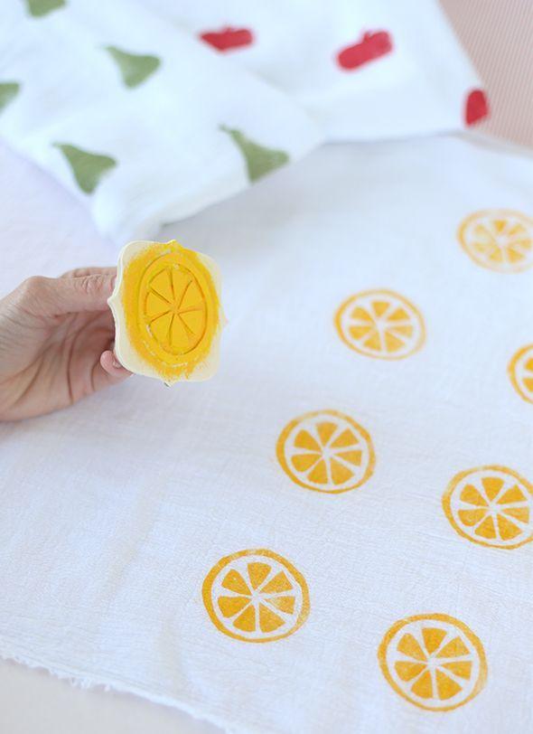 DIY serviette ete