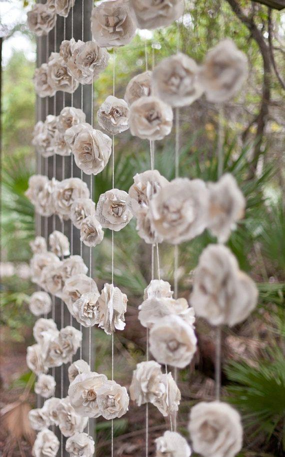 rideau de fleurs mariage