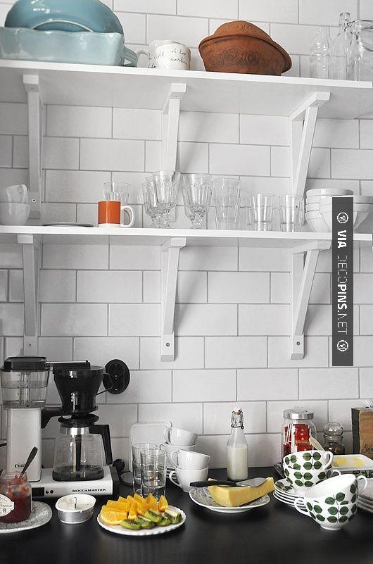 etagere rangement cuisine scandinave