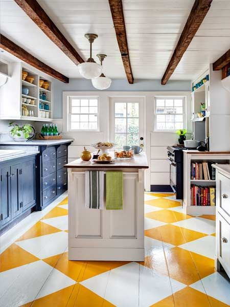 parquet peint cuisine