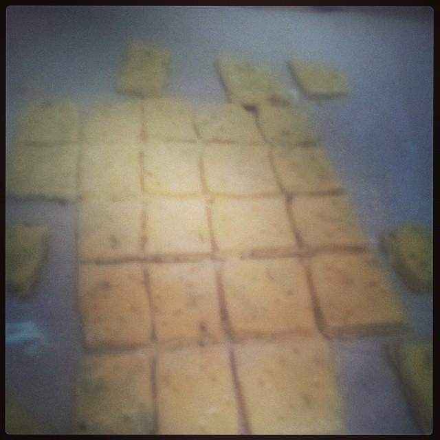 Crackers maison en cours... #miam