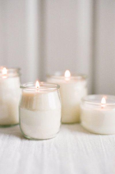 bougies simples et jolies