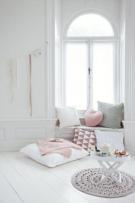 decoration blanc et pastel