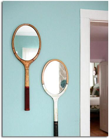 miroir raquette original DIY