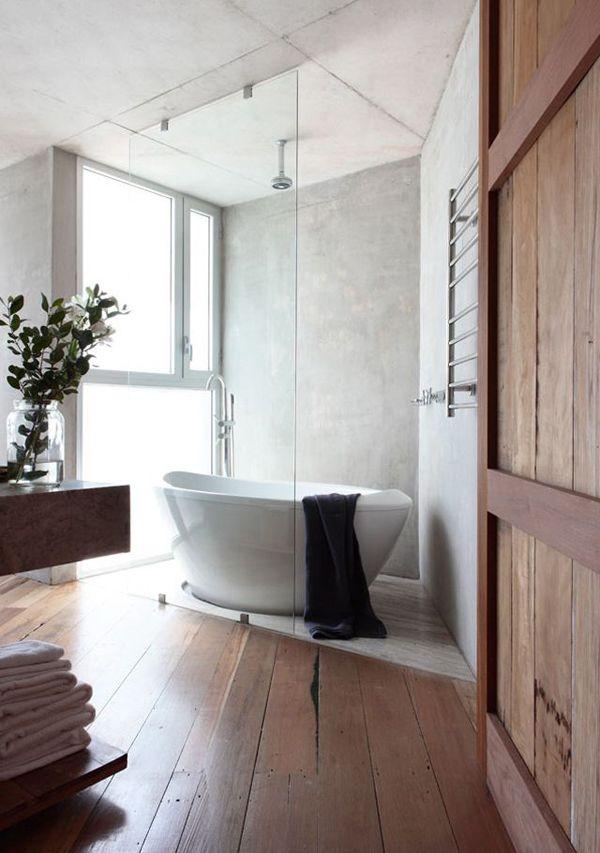 Une baignoire pour la salle de bain cocon de d coration for Cloison verre salle de bain