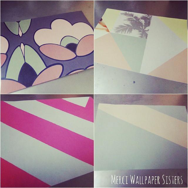 Échantillons de papier peint reçus! Ils sont extras! Merci @ws_wallpapersisters
