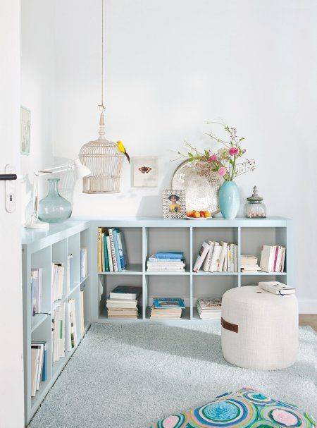 Inspiration en vrac les bibioth ques cocon de d coration le blog - Bibliotheque casier ikea ...