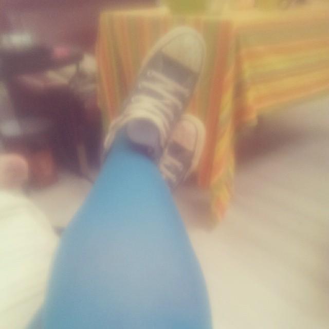 Aujourd'hui je vois la vie en bleu... #converse