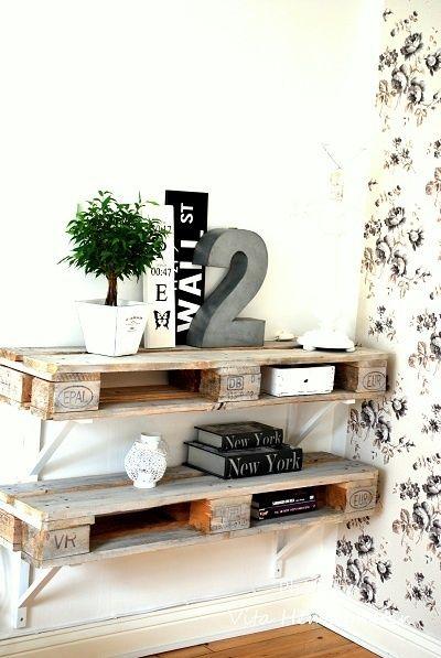 meuble en palette etagere