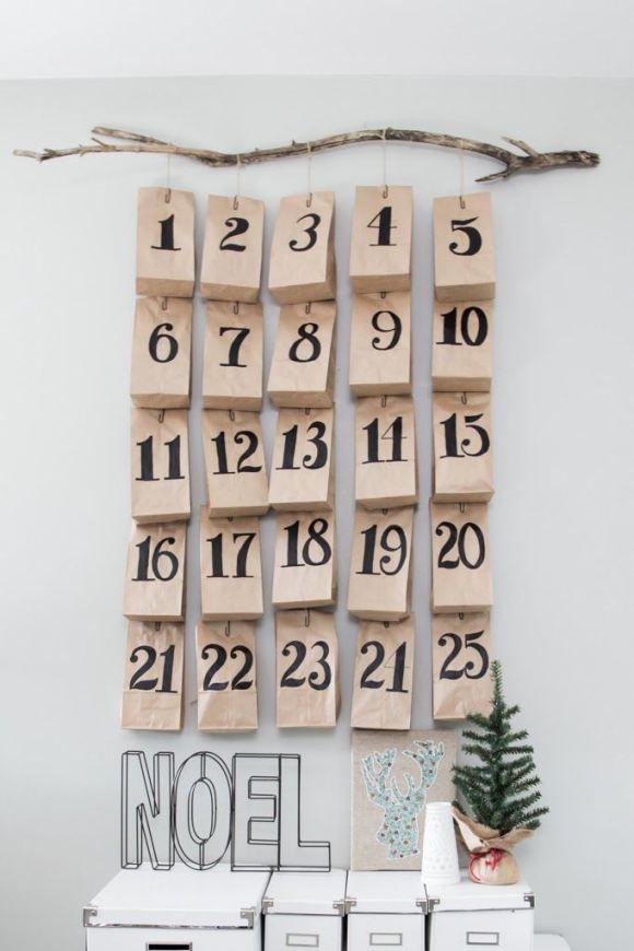 calendrier de l'avent original et joli