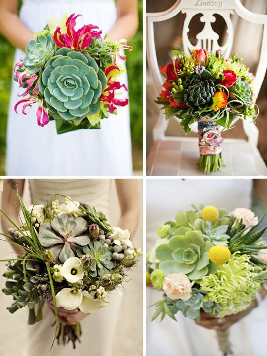 bouquet de mariee succulentes
