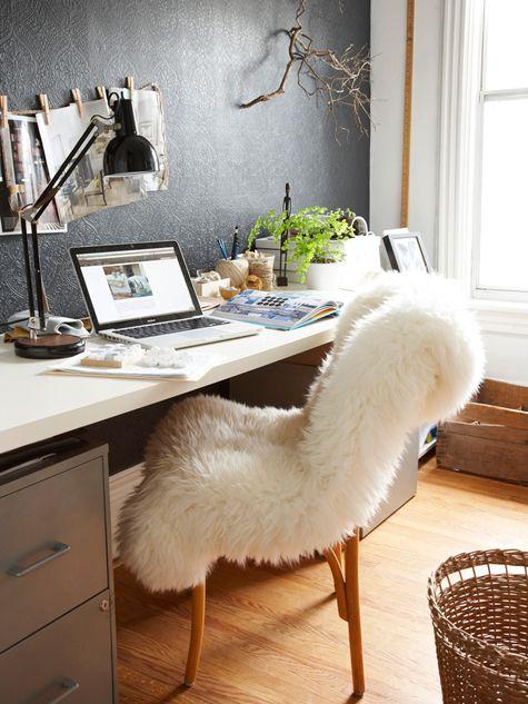 bureau déco fauteuil cosy