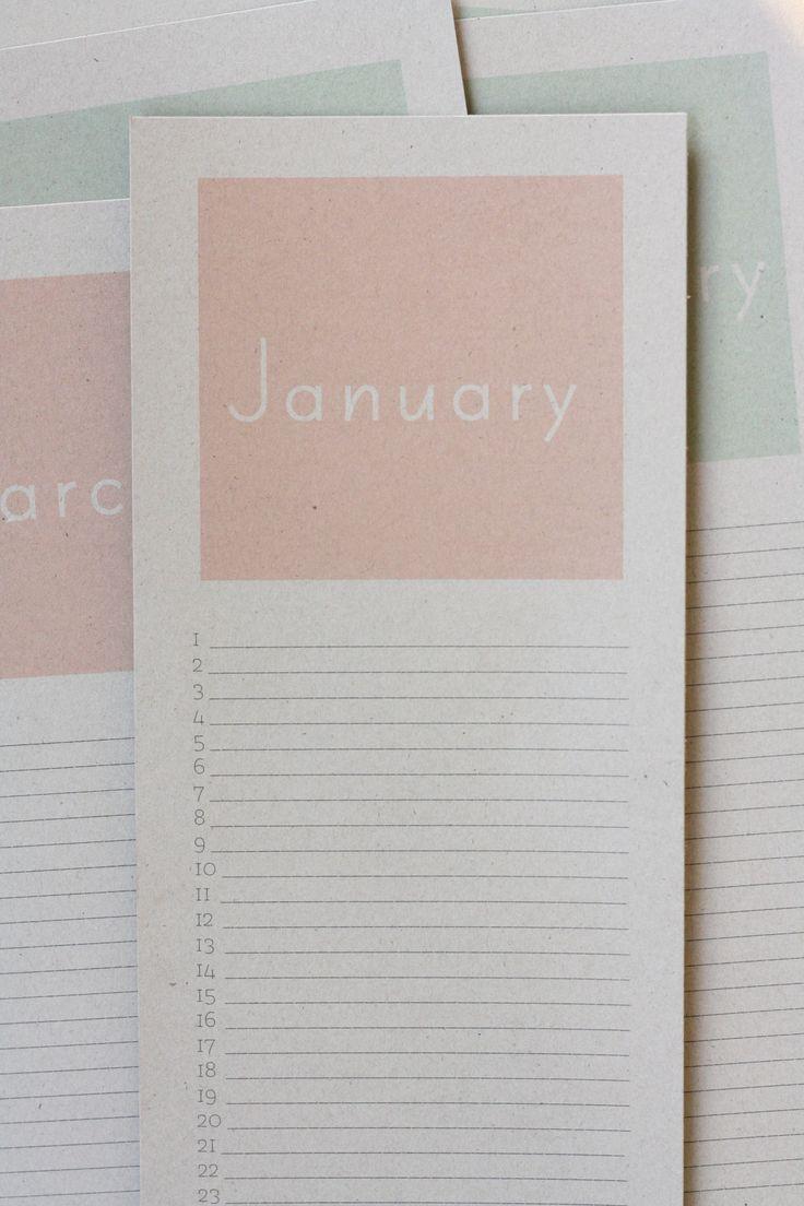 calendrier perpetuel pastel