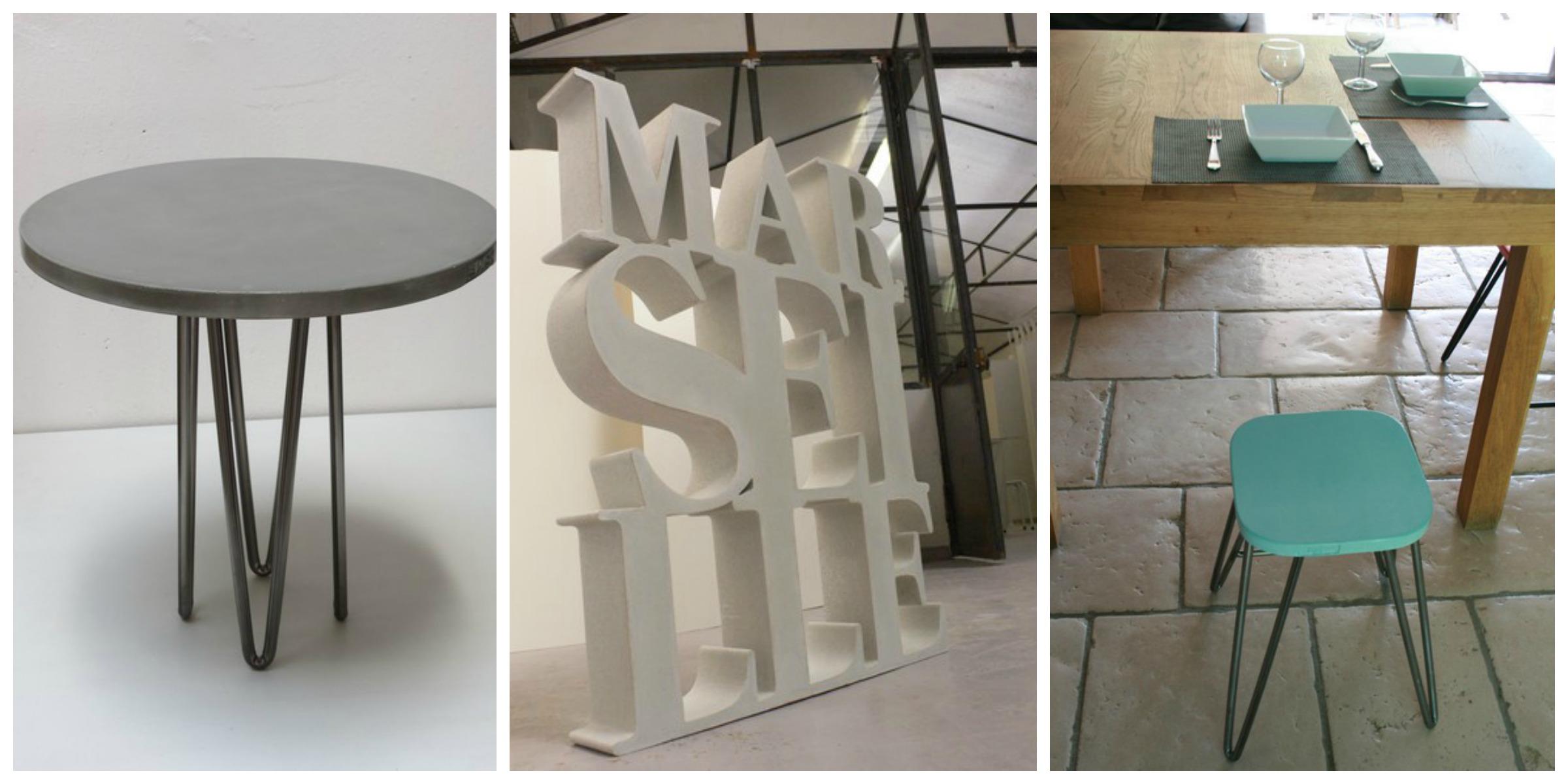 creatrices mobilier et deco en beton france