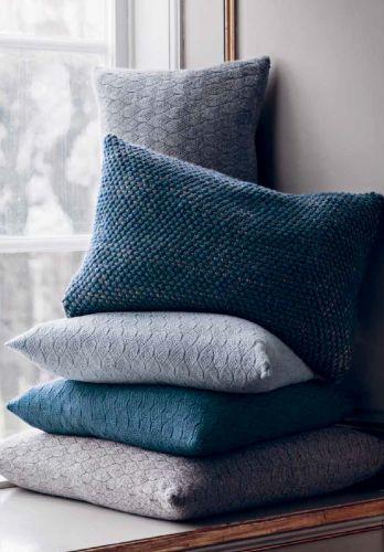 deco hiver coussins laine