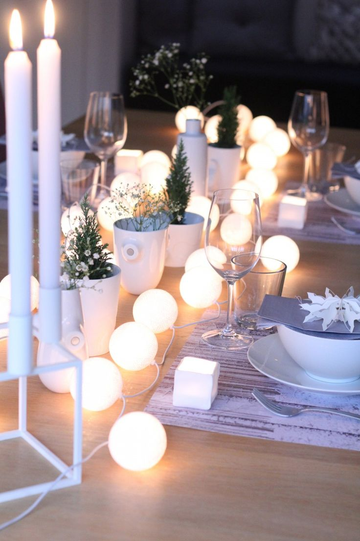 deco table repas hiver