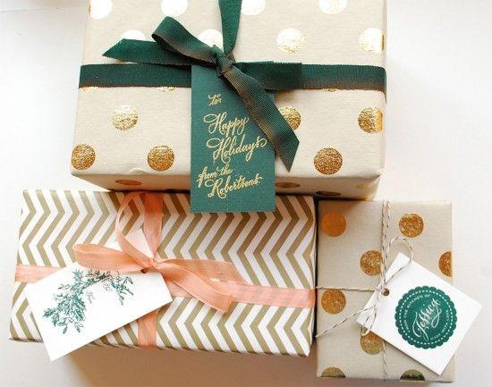 emballage cadeau classe et chic