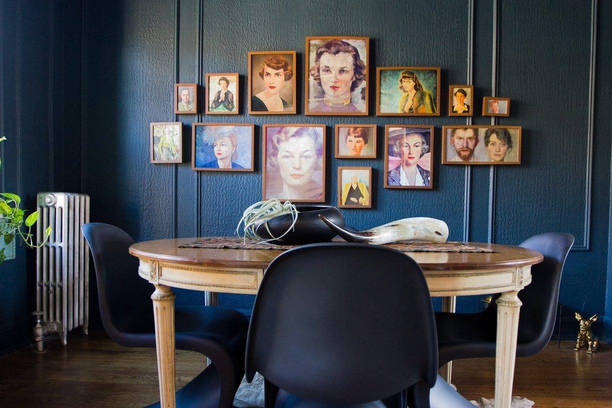 salle a manger deco portraits de femme