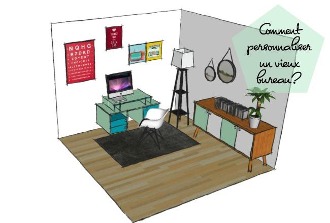 diy personnaliser un vieux bureau cocon de d coration le blog. Black Bedroom Furniture Sets. Home Design Ideas