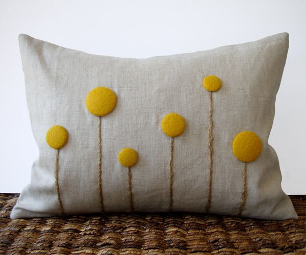 coussin personnalise facile bouton diy