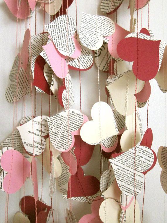 creer une guirlande saint valentin
