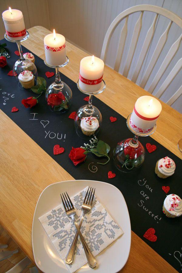 deco de table saint valentin