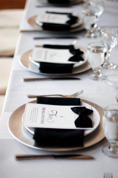 mariage noir et blanc noeud papillon
