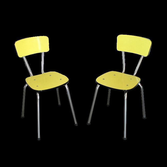 Chaises-formica-vintage-jaune-brocante lab