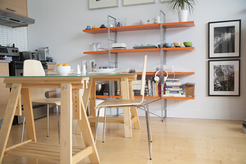 deco couleur appartement orange