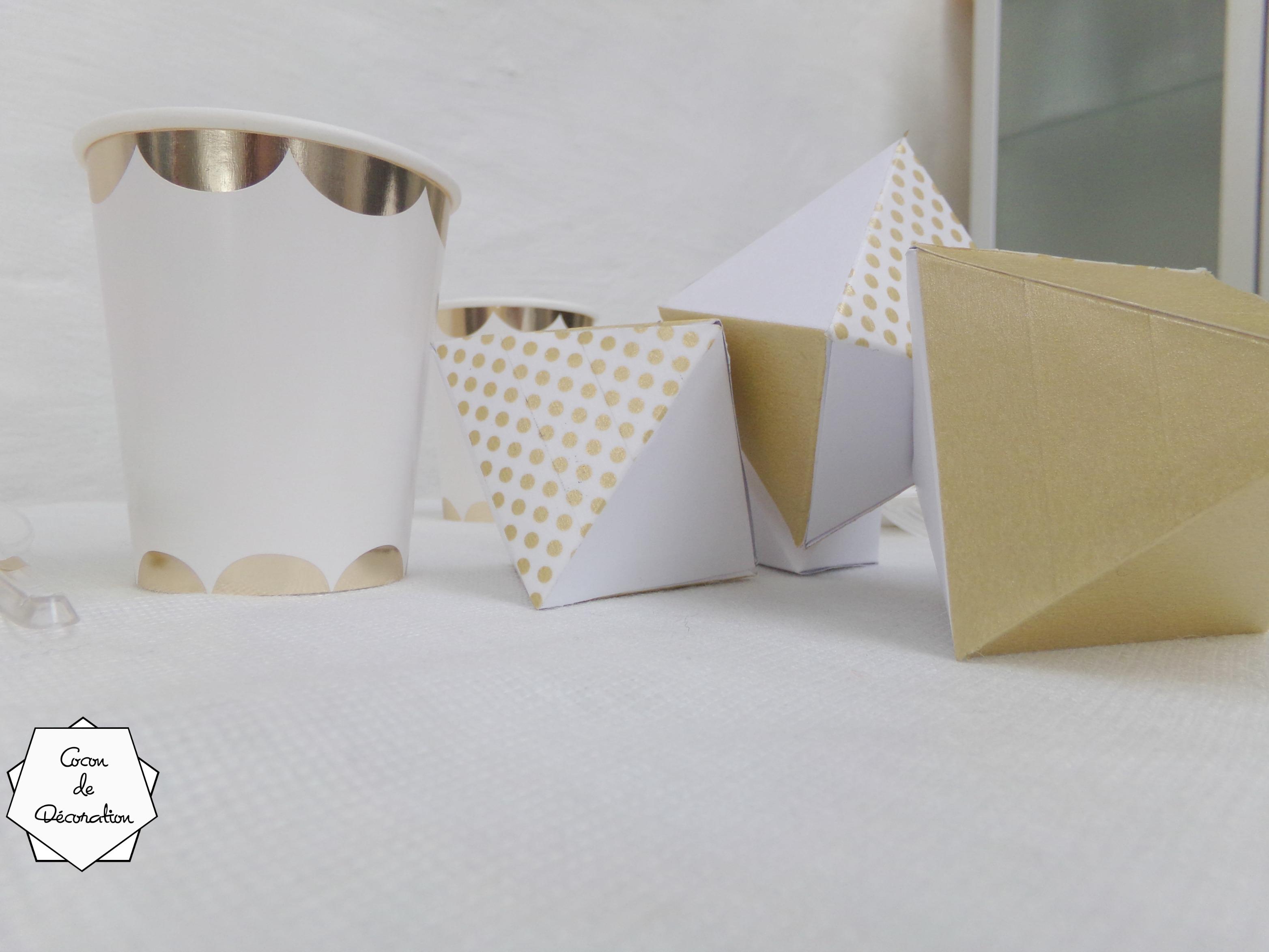 diy deco de table tendance et geometrique
